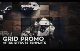 AE模板 优雅商务文化照片墙拼接翻转宣传模板 AE素材