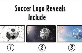 AE模板 三维足球模型定制展示logo动画模板 AE素材