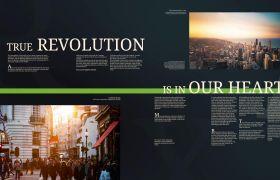 AE模板 现代优雅杂志文摘展示图文排版模板 AE素材