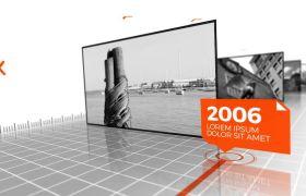 AE模板 商务企业时间线历程图文宣传片模板 AE素材