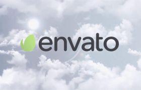 AE模板 简单明亮天空云层展现logo模板 AE素材