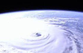 台风山竹卫星云图拍摄视频