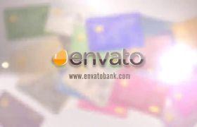 AE模板 3D信用卡掉落堆叠银行业务宣传片开场模板 AE素材