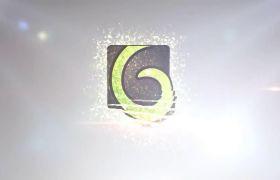 AE模板 优雅闪光粒子穿梭拼接企业logo模板 AE素材