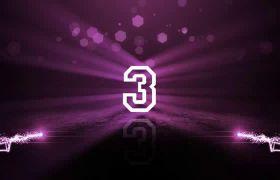 紫色粒子光线5秒倒计时视频素材