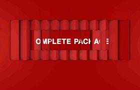 AE模板 经典马赛克翻转电视节目预告栏目条模板 AE素材