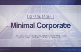 AE模板 經典商務企業圖文展示幻燈片模板 AE素材