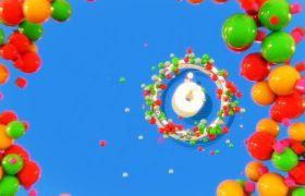 欢快多彩小球儿童动画视频素材