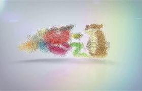 AE模板 创意沙尘粒子拼接显示logo动画模板 AE素材
