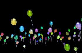彩色气球上升通道视频素材
