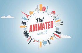 AE模板 世界旅行城市栏目包装扁平动画模板 AE素材