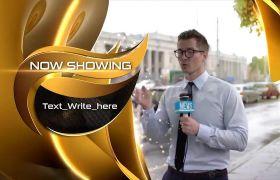 AE模板 典雅金色电视节目时间预告包装模板 AE素材