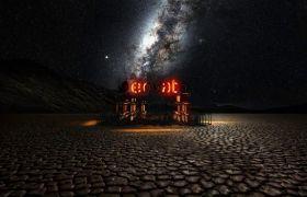 AE模板 炫酷立体建筑结构灯光展示logo模板 AE素材