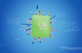 AE模板 创意学生教育微课节目开场模板 AE素材