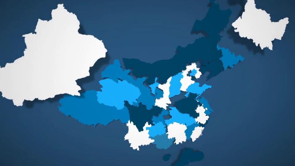 ae模板 中国地图省份板块拼接定制工具包模板 ae素材
