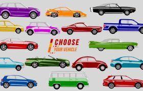 AE模板 有趣汽车动画展现字幕条模板 AE素材