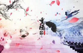 九九重阳节中国风水墨开场片头视频