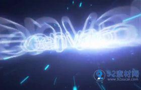 AE模板 3D立体银河隧道穿越光效标题logo模板 AE素材
