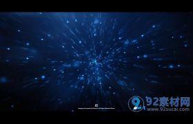 AE模板 科技商务蓝色线性粒子汇聚logo模板 AE素材
