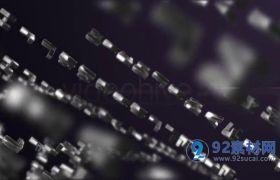 AE模板 立体3D金属零件汇聚组合logo标志模板 AE素材