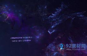AE模板 梦幻银河星辰粒子电影预告片模板  AE素材