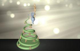 圣诞节节日庆祝圣诞树玩具模型动画视频