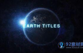 AE模板 科幻银河地球失真特效电影开场模板 AE素材