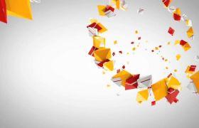 彩色三维图形动画包装logo片头ae模板