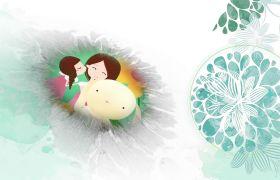 唯美典雅小清新相册水墨画母亲节片头动画AE模板