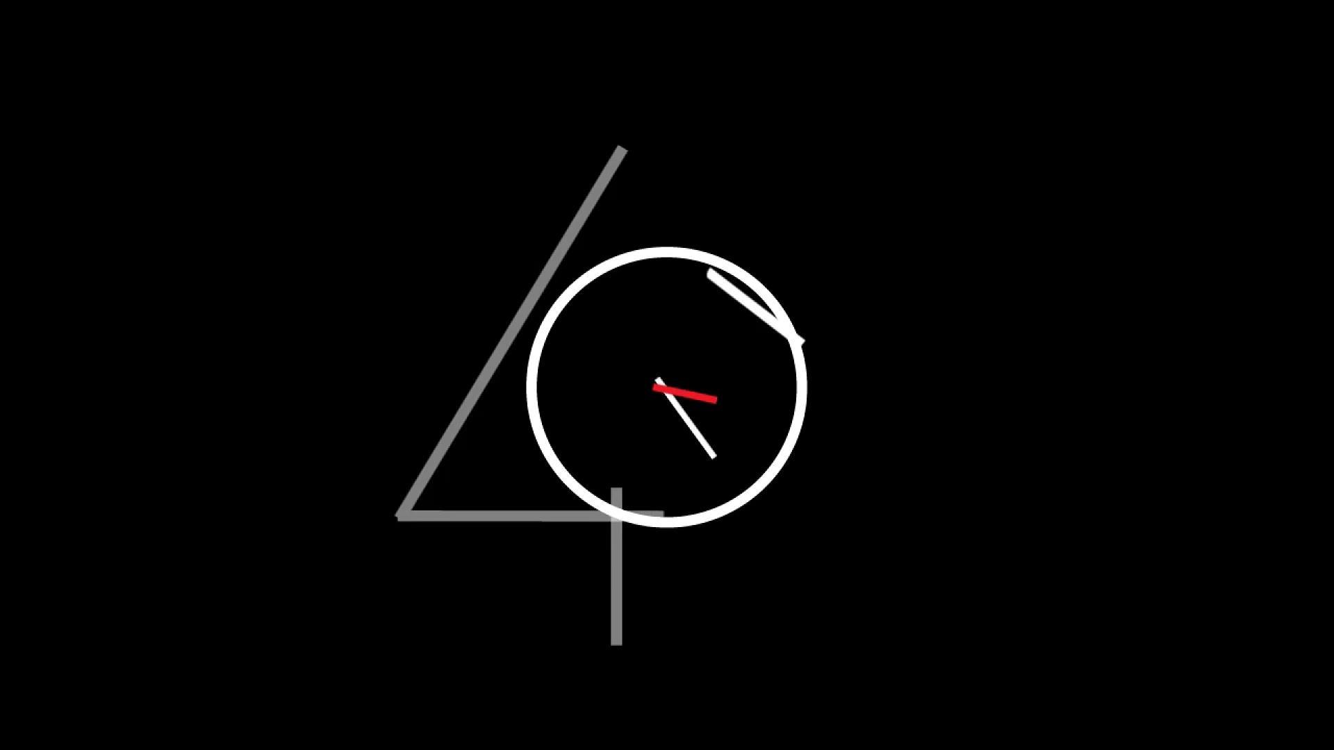 简单创意时钟转动10s倒计时mg动画视频素材