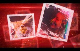AE模板 喜庆气氛圣诞节飞行卡幻灯片特效模板 AE素材