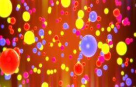 抽象五彩缤纷彩色小球上升背景视频素材