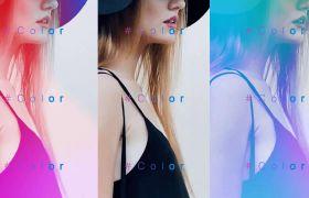 AE模板 时尚魅力简约现代科技感美女图片开场模板 AE素材