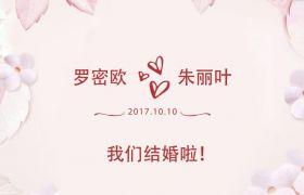 小清新粉色爱情婚礼电子相册模板 AE素材