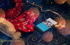 清新唯美洋溢祝福四射美丽圣诞模拟模板 AE素材