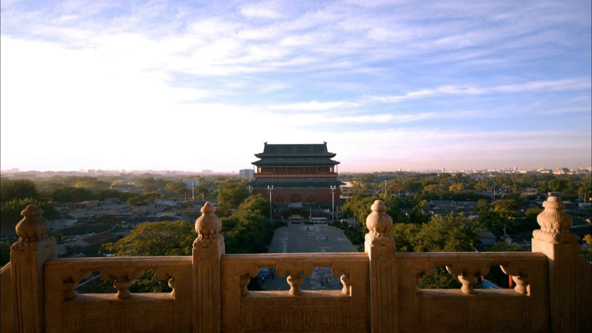 北京街道人流风景高清实拍视频素材