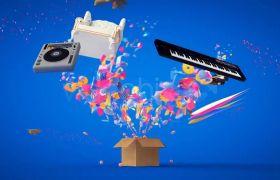 潮流可视化动感视觉效果音乐元素海报模板 AE素材