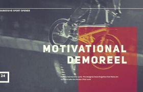 原创动感炫酷大气体育运动体育器材健快速时尚体育宣传模板