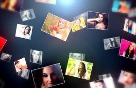 优雅时尚简单照片画廊展示视差多幻灯片相册模板