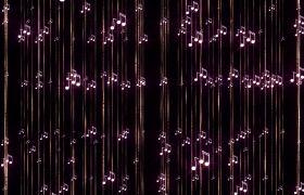 浪漫唯美音乐音符跳动帘幕视频素材