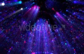 ?旋转粒子射线魅力LED音乐会舞台背景视频素材