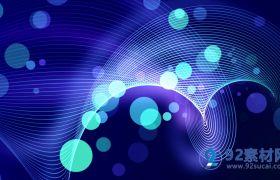 动感高清4k超清绚丽漂亮蓝色粒子背景视频素材