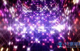 震撼水晶霓虹灯LED闪烁动感DJ背景VJ视频素材