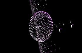 快节奏几何粒子快闪动感舞台背景视频素材