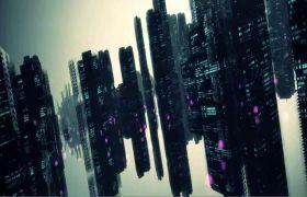 科技光效城市建筑抖动创意动感视频素材