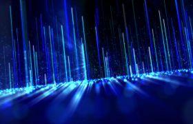 蓝色动感光效科技感粒子背景视频素材