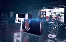 现代科技感三维立体商务产品宣传片AE素材