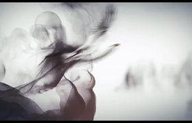 中国风黑色水墨鱼鸟风景画舞台背景视频素材