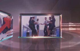 高端科技感三维立体商务企业宣传片AE素材