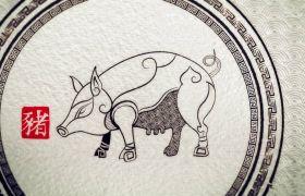 2019猪年新春拜年祝福视频会声会影模板